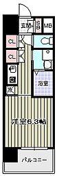 アークアベニュー天王寺[4階]の間取り