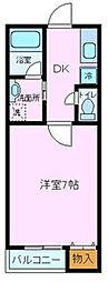 静岡県三島市東本町1丁目の賃貸マンションの間取り
