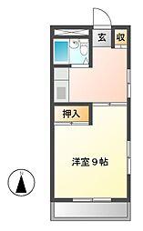 ファミール茶屋ケ坂[3階]の間取り