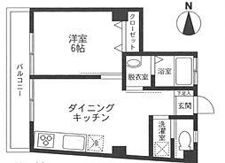東京都渋谷区広尾2丁目の賃貸マンションの間取り