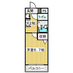 愛知県名古屋市港区名港2丁目の賃貸アパートの間取り