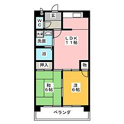 サンクレスト六番[3階]の間取り
