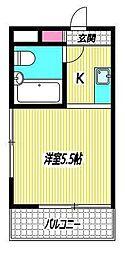 東京都杉並区成田東3丁目の賃貸マンションの間取り
