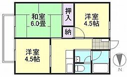 シティハイム吉岡B棟[2階]の間取り