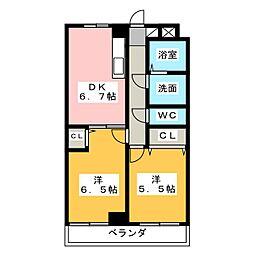 ティアラ植松[3階]の間取り
