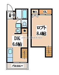 サンピアハイツI[1階]の間取り