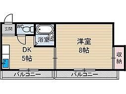 パークサイド茨木[3階]の間取り