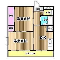 クレドボヌール[1階]の間取り