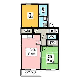 ヒルサイドテラスE棟[2階]の間取り
