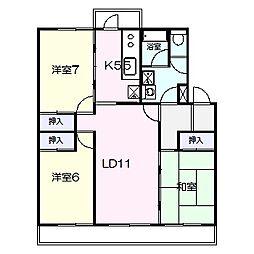 キャストロ鎌ヶ谷[1階]の間取り