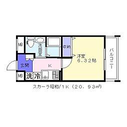 スカーラ昭和町[7階]の間取り
