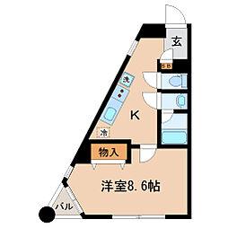 宮城県仙台市若林区連坊小路の賃貸マンションの間取り
