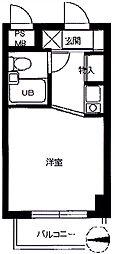 スカイコート武蔵関[505号室]の間取り