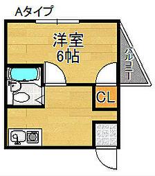 セラ天下茶屋[5階]の間取り