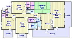 兵庫県神戸市垂水区高丸7丁目の賃貸マンションの間取り
