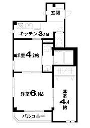 ファインドルト[2階]の間取り