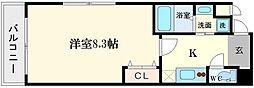 プレジオ中之島[10階]の間取り