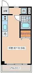 メゾンドール新代田[2階]の間取り