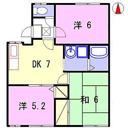 コスモハイツ赤柴I[1階]の間取り