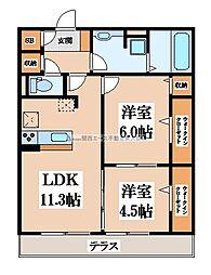 アコルデ西岩田[3階]の間取り