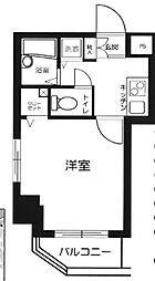東京都新宿区北山伏町の賃貸マンションの間取り