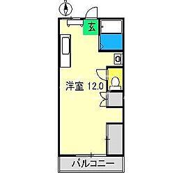 バンビーリオ[3階]の間取り