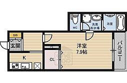 シャーメゾン都島 1階1Kの間取り