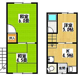 内池貸家[1階号室]の間取り