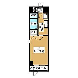 スプリングアベニュー[4階]の間取り