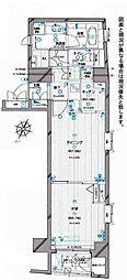 東京都新宿区北町の賃貸マンションの間取り