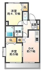 フロンティアIII C棟[3階]の間取り