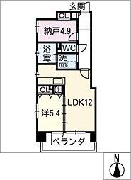スカイピア大須[9階]の間取り