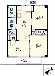 ガーデンプラザK'S[2階]の間取り