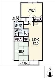 ヴィラセジュール[2階]の間取り