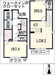 [タウンハウス] 愛知県名古屋市東区芳野1丁目 の賃貸【/】の間取り