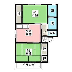 グリーンパル幸 B[1階]の間取り