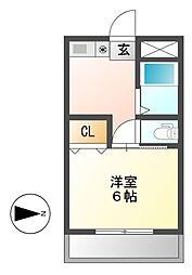 ハイツ小川[2階]の間取り