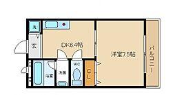 ハーブプラザ和泉鳥取III番館[2階]の間取り