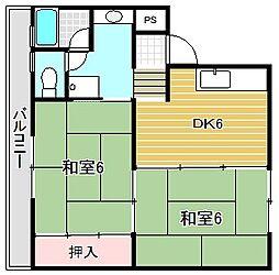 メゾン津之江[4-E号室]の間取り