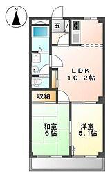 神奈川県横浜市都筑区折本町の賃貸マンションの間取り