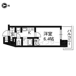 プレサンス京都駅前千都401[4階]の間取り