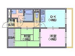 サンプラザ南京終[7階]の間取り