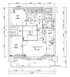 アンピール姪浜駅南[11階]の間取り