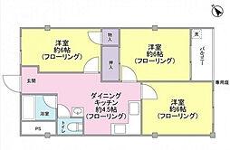 大倉山第2コーポラスC棟[1階]の間取り