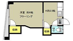 東京都杉並区阿佐谷北6丁目の賃貸マンションの間取り