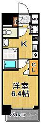 プレミアムコート大正フロント[9階]の間取り