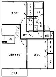 ラ・ポルテ[105号室号室]の間取り