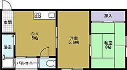ハーモニー新館[4階]の間取り