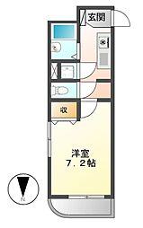 ライフステージ白壁[6階]の間取り