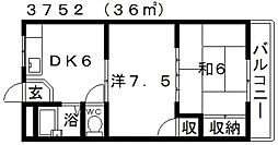 オレンジコーポ[203号室号室]の間取り